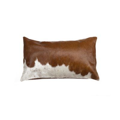 Bloomsbury Market Graham Leather Lumbar Pillow Cowhide Pillows Leather Throw Pillows Oblong Throw Pillow