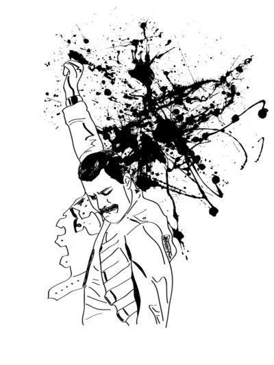 Freddie Mercury  by Aurelie Scour