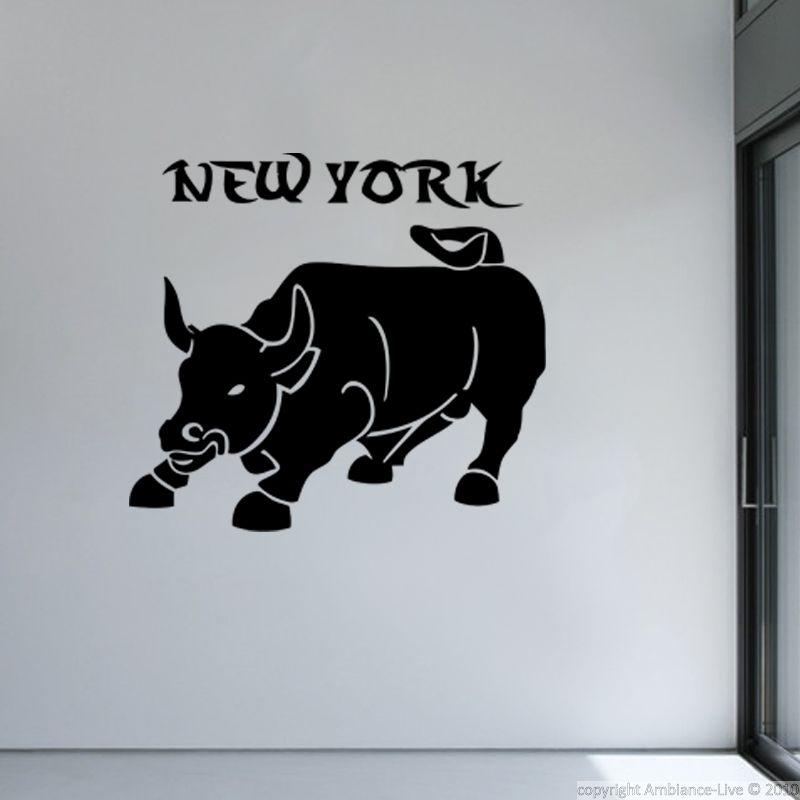Stickers muraux New York - Sticker Taureau de New-York | Ambiance-sticker.com