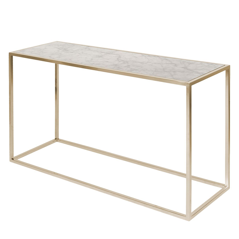 konsolentisch jacob - marmor / edelstahl - kupfer / weiß jetzt ... - Marmor Wohnzimmer Tische