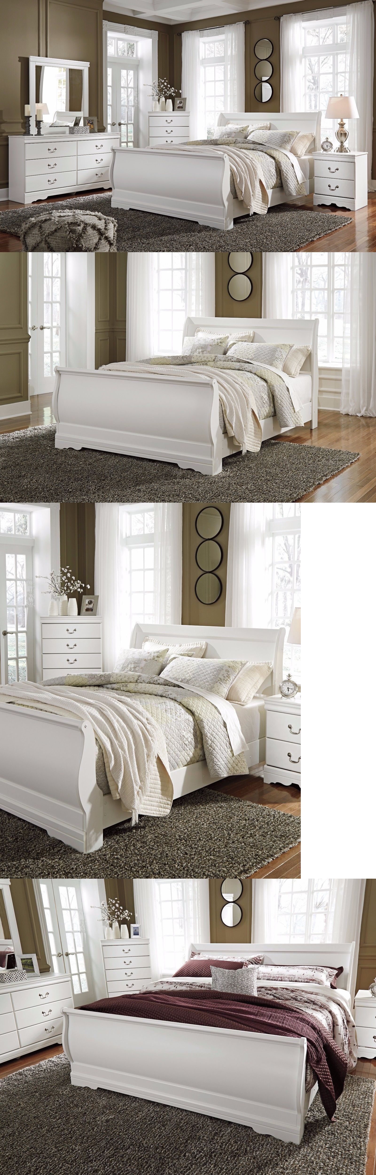 Best Bedroom Sets 20480 Ashley Furniture Anarasia Queen Sleigh 6 Piece Bedroom Set Buy It Now 400 x 300