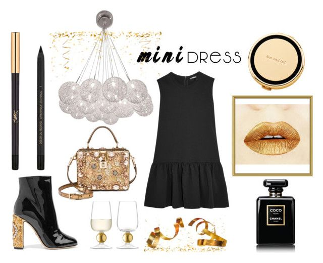 """""""CHEERS"""" by wendy-tankson ❤ liked on Polyvore featuring Miu Miu, Dolce&Gabbana, Kate Spade, Chanel, Yves Saint Laurent and LSA International"""