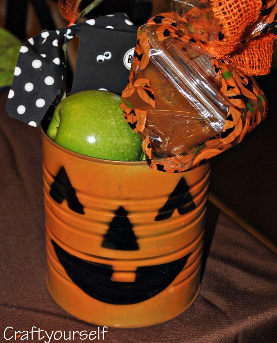 Pumpkin Can Gift - Craft | Pumpkin gift, Halloween gifts ...