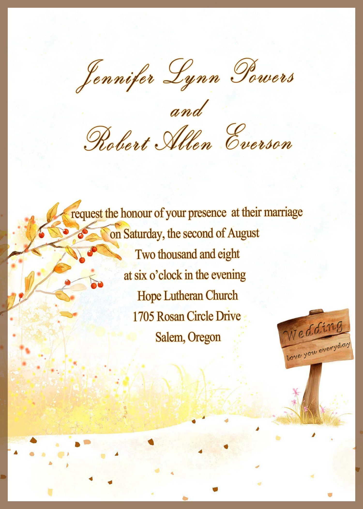 Marriage Invitation Cards For Friends Wedding Invitations