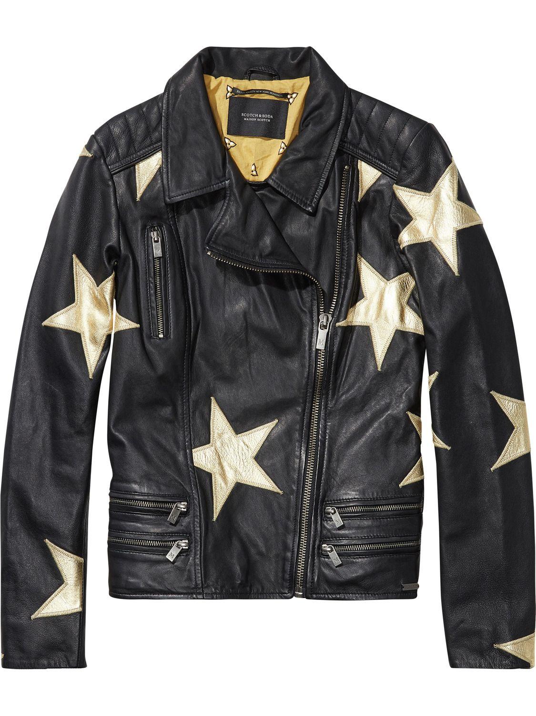 Chaqueta Leather Piel Estrellas Style Jackets Con De amp; Fashion vvxwCFr