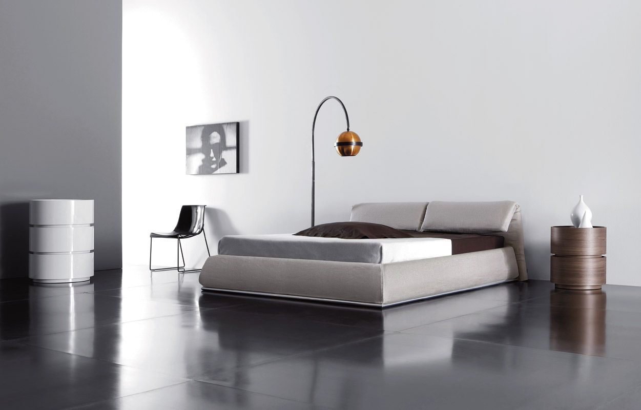 Bedroom Fantastic Arch Floor Lamp With Minimalist Bed And Unique
