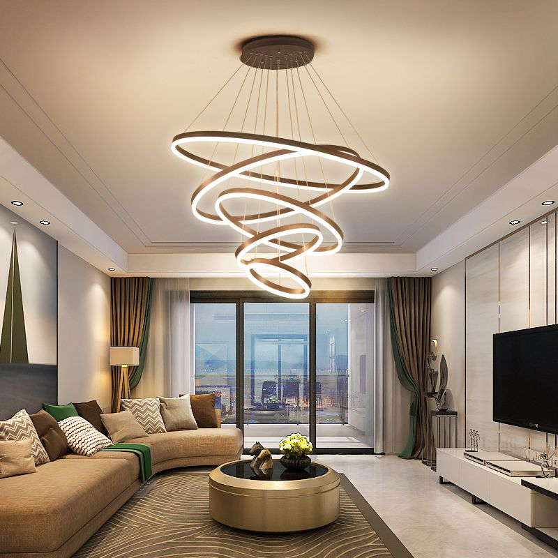 302 08 Living Room Chandelier Concise Modern Atmosphere High Grade Villa Creative Personality Post Modern Light Luxury Nordic Lamps Dining Room Lamp From Bes Chandelier In Living Room High Ceiling Living Room Modern Ceiling
