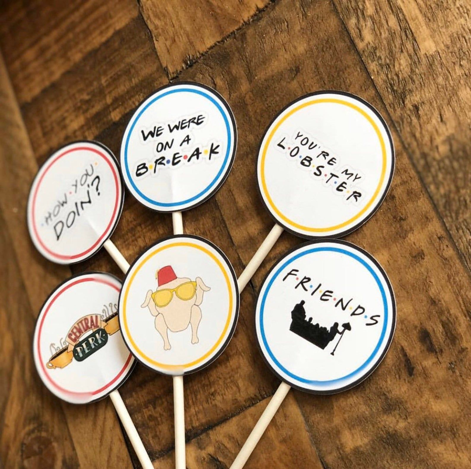 Friends theme cupcake toppers etsy in 2020 friends