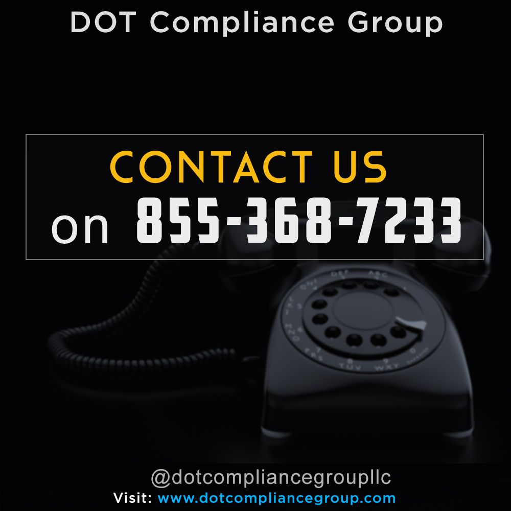 Contact dot compliance group llc on 8553687233 dot