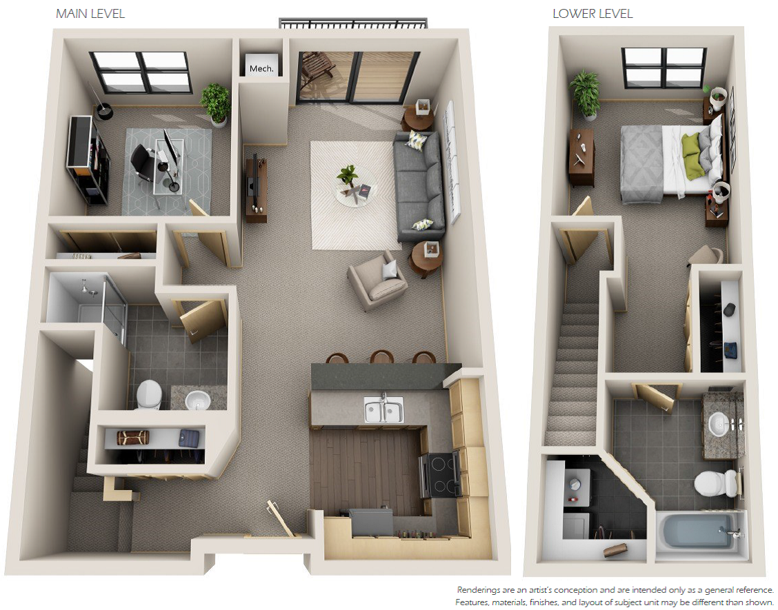 1 Bedroom Den 2 Bathrooms Starting At 1 820 1 142 Sq Ft Sims House Plans Sims House House Plans