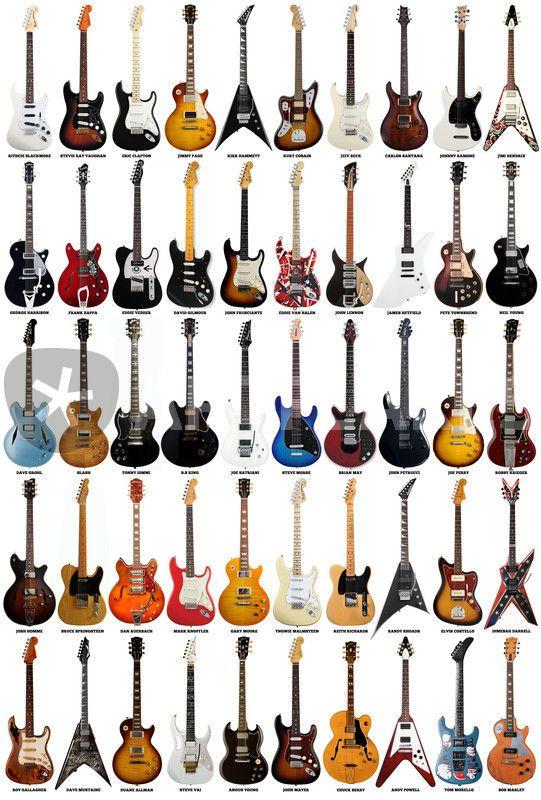 guitar legends digital art art prints and posters by taylan soyt rk artflakes com guitars. Black Bedroom Furniture Sets. Home Design Ideas