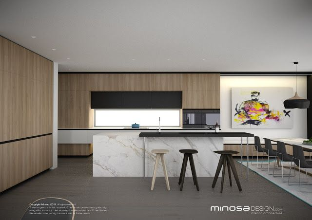 Minosa Design The Modern Living Room  Kitchen Lounge & Dine Awesome Modern Living Room And Kitchen Design Decorating Inspiration