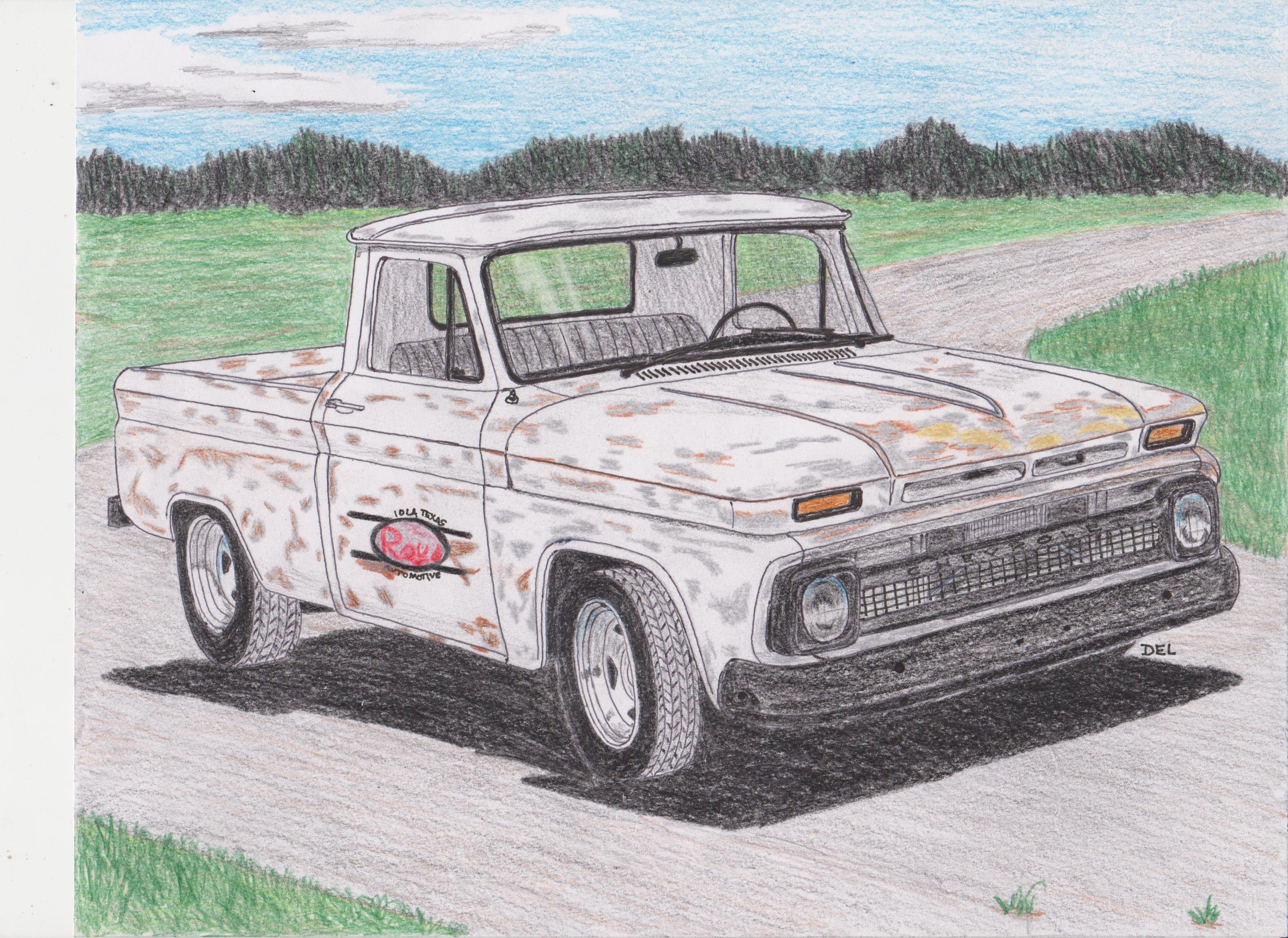 Chevy shop truck   Hot Rod Drawings   Pinterest