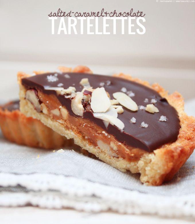 Salted Caramel-Chocolate-Tartelettes