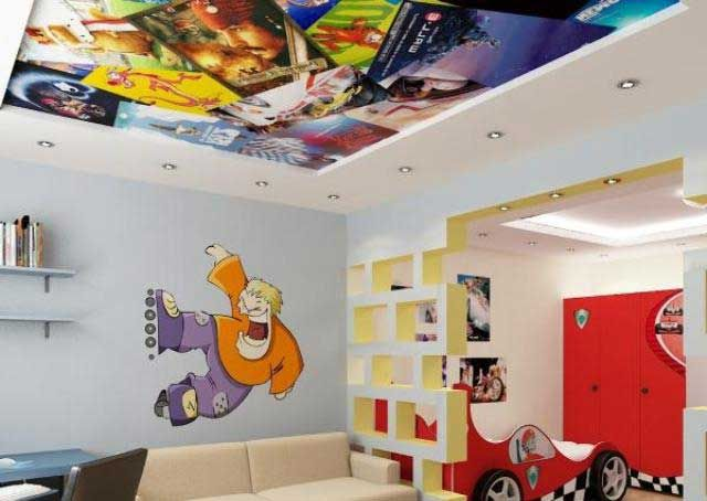 3d Ceiling For Kids Room 3d Ceiling Mural For Kids False Ceiling Top Trends On How To Turn Your Ceiling Or Ceiling Design Ceiling Murals False Ceiling Design