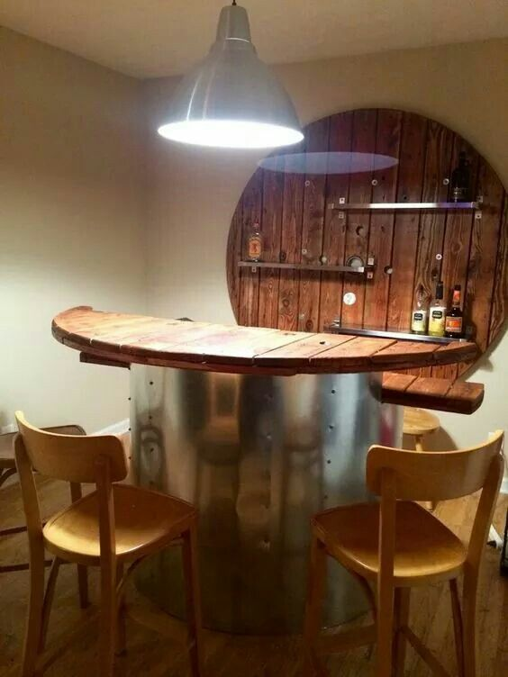 Coffee Man Wooden Table Custom Cave