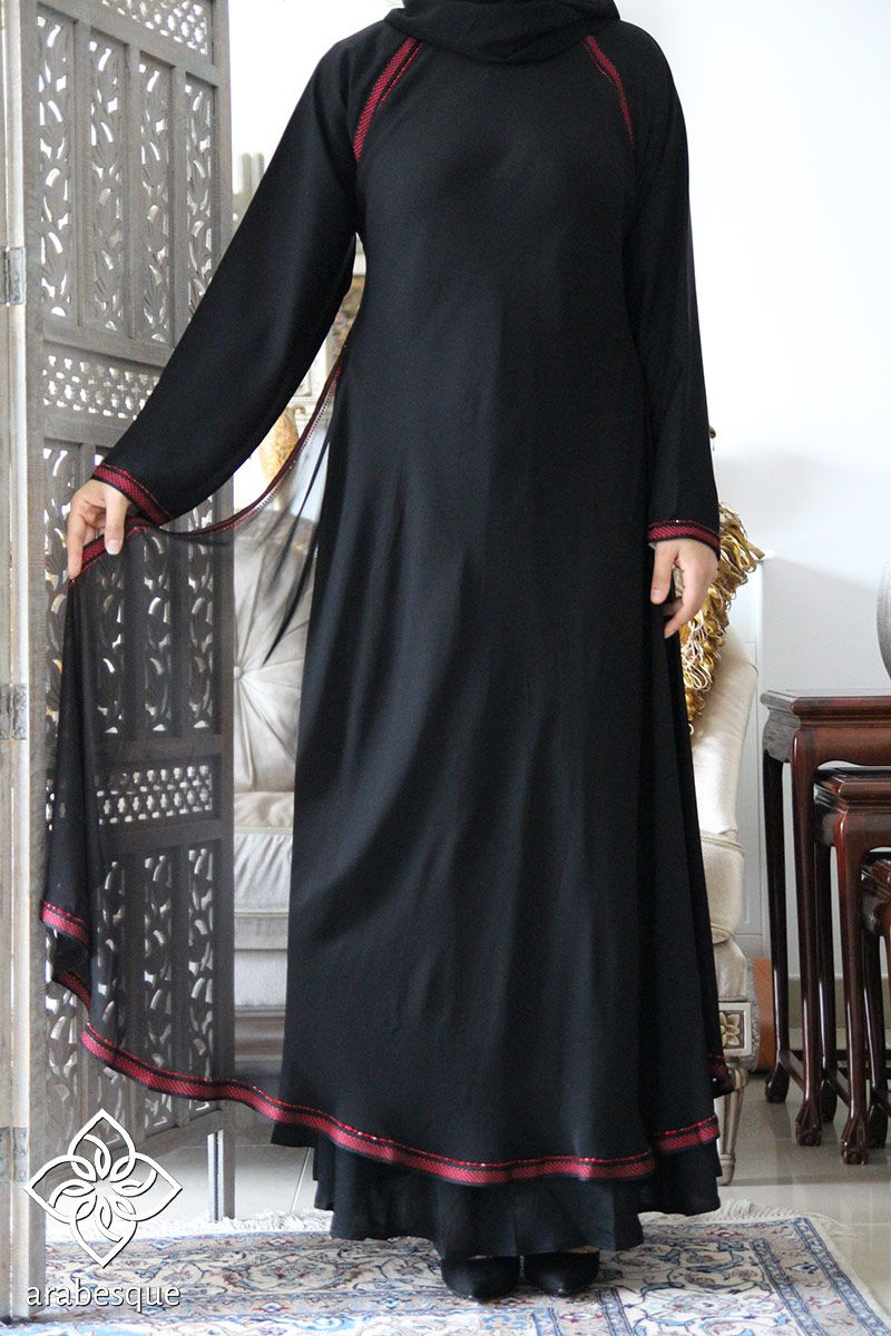 Lace umbrella abaya  Closed  Abaya  Pinterest  Abayas and Clothing