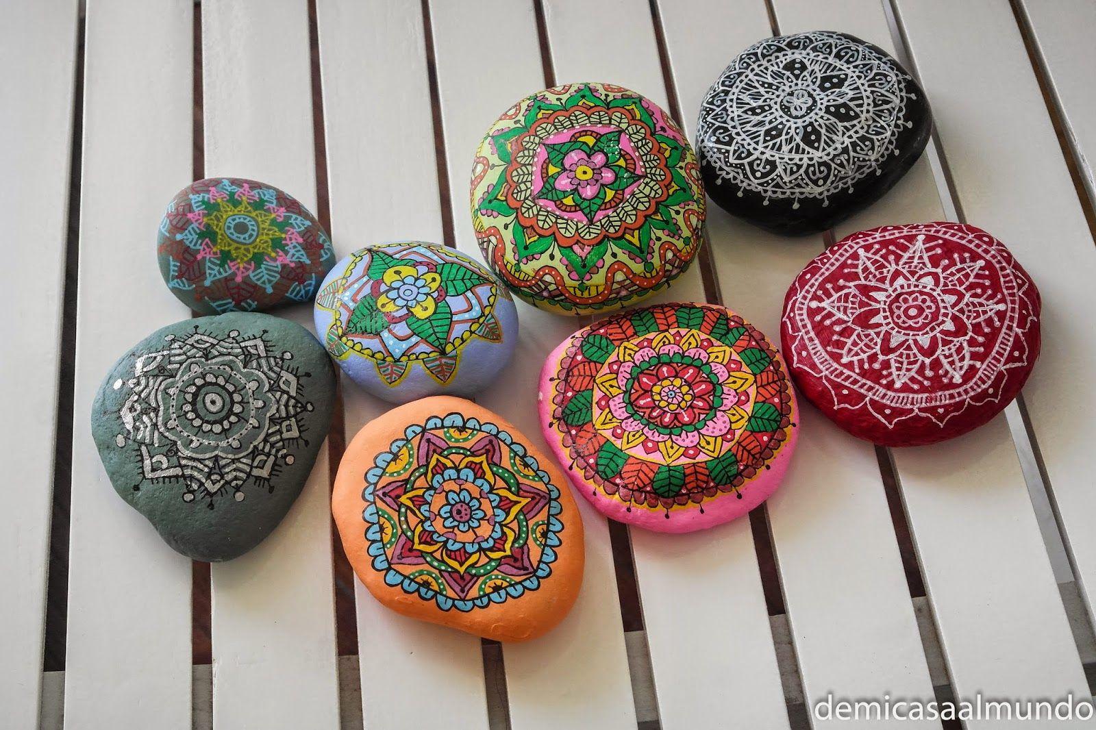 Diy pintar mandalas en piedras de mi casa al mundo - Pintar mi casa ...