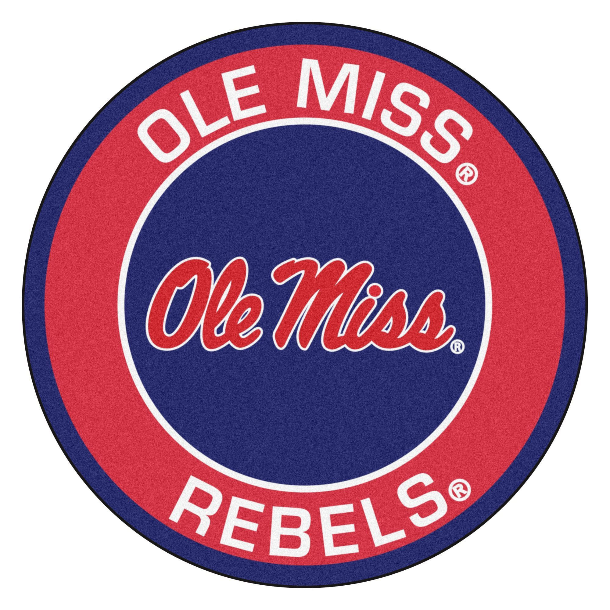 Ncaa University Of Mississippi Ole Miss Roundel 27 In X 27 In Non Slip Indoor Only Mat Ole Miss Ole Miss Rebels University Of Mississippi