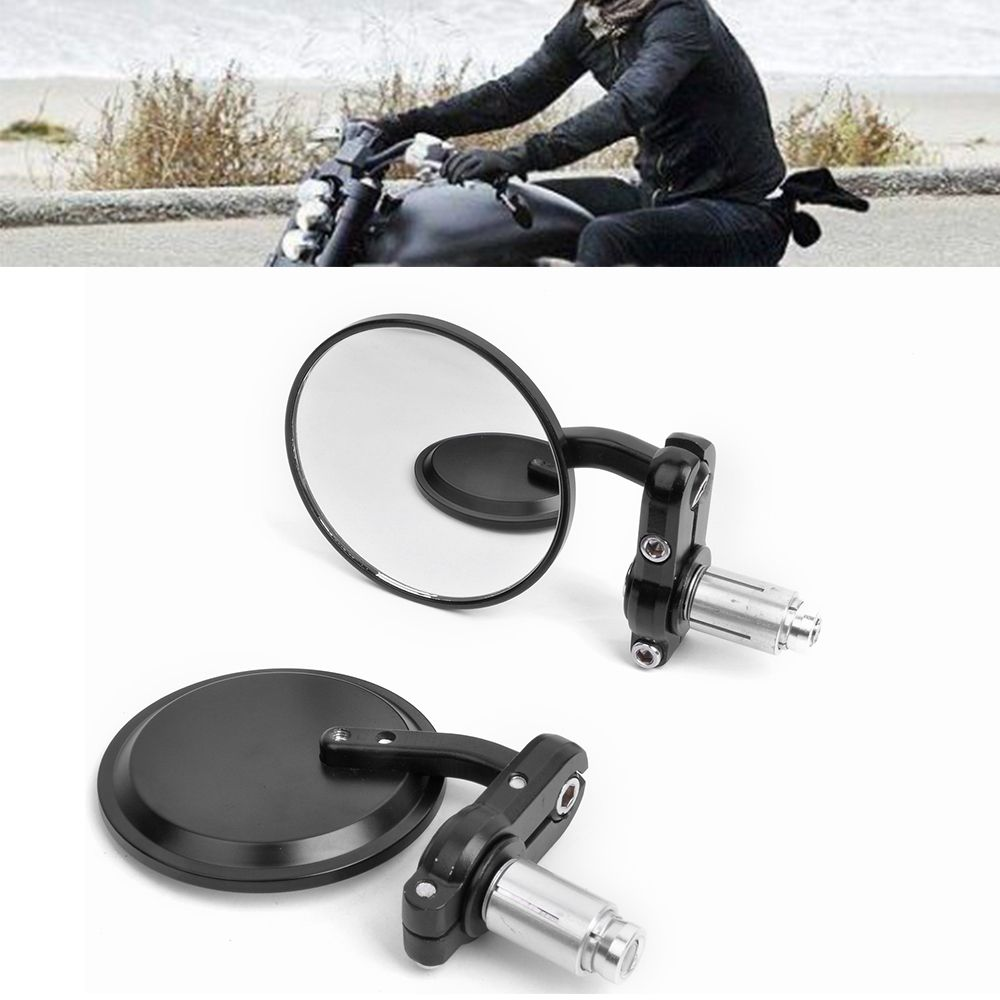 """CNC Aluminum Universal 7//8/"""" Handlebar Side End Mirrors Rearview Mirrors Choppers"""