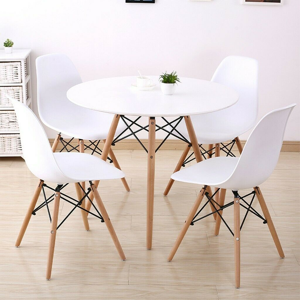 5 Piece Dining Set Glass Top Table And 4 Leather Chair For Kitchen Dining Room Dining Table Ide Coffee Table Retro Dining Table Leather Dining Room Chairs