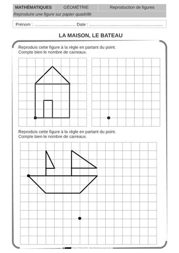 Bien connu fiche de géométrie CE1 dont la reproduction de figures | Tokį pat  RJ61