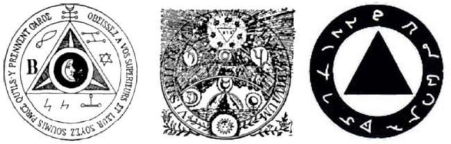 Triangle Inside Circle Occult Illuminati Symbol Muslims And The