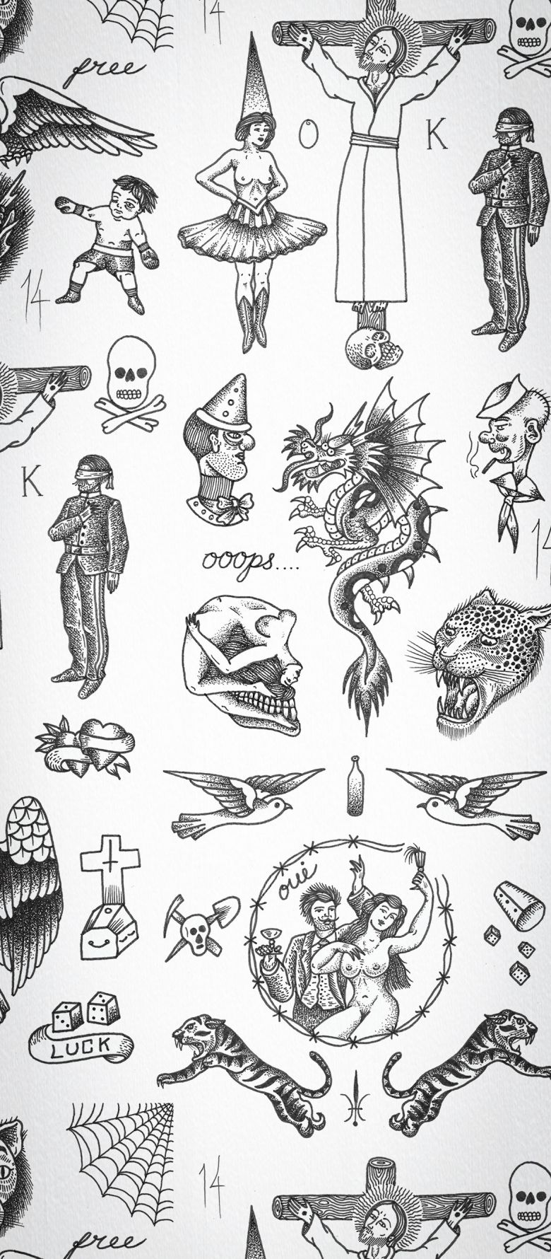 Tattoo Flash 01 Wallpaper By Liam Sparkes Feathr Tattoos For Women Small Meaningful Arm Tattoos For Guys Traditional Tattoo Traditional tattoo flash wallpaper