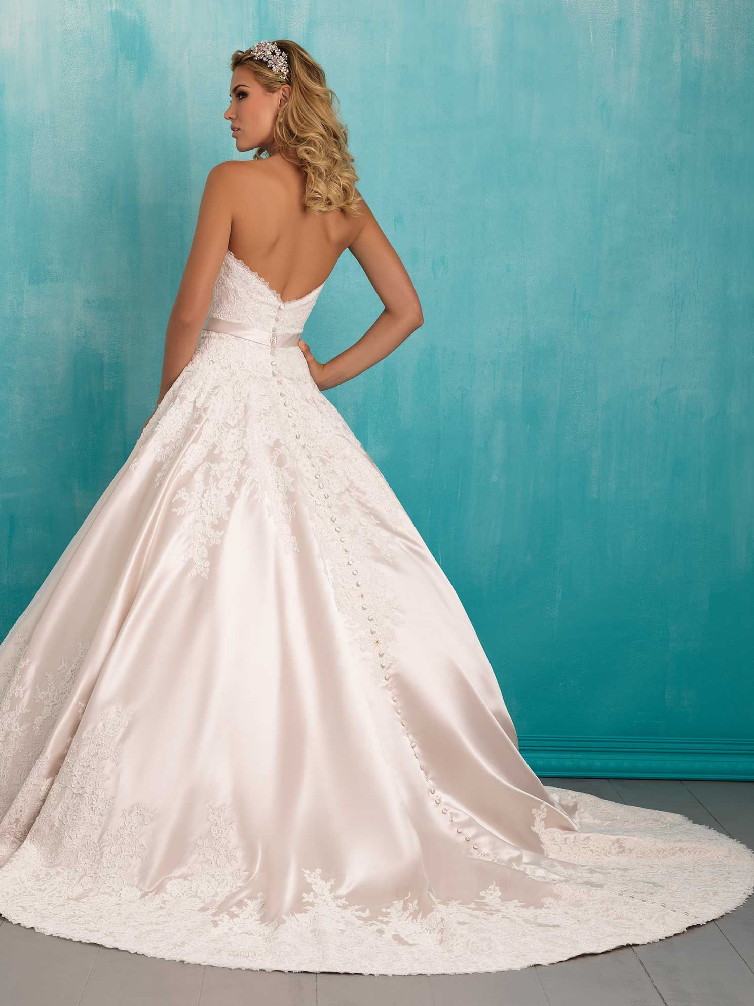 Allure Bridals Style 9303, back view. Available at Debra\'s Bridal ...
