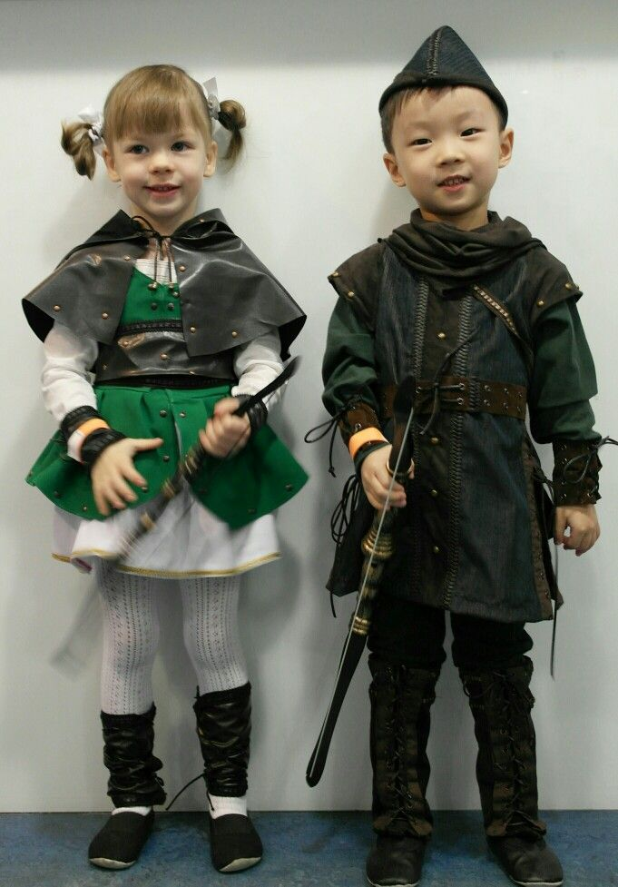 6dc385db74c diy handmade kids robin hood and friar tuck halloween costumes - 681×977