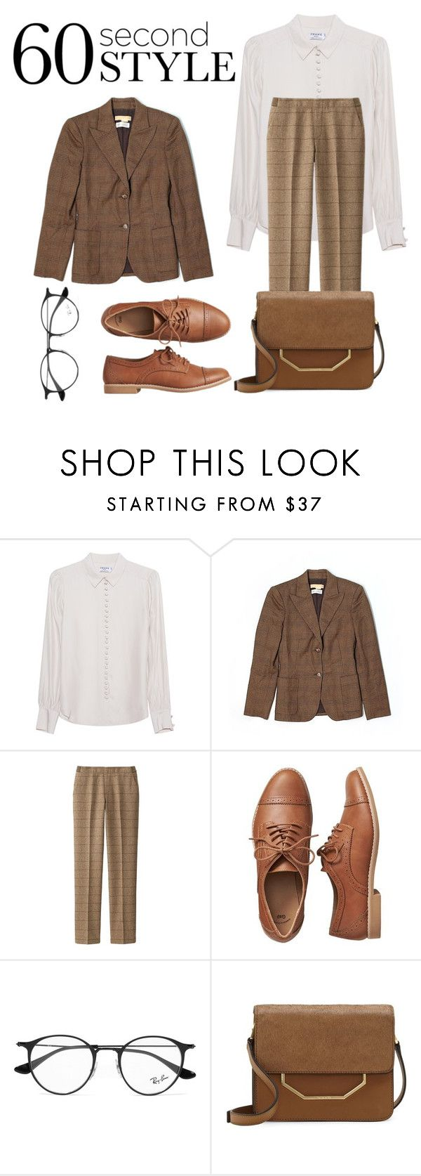 """""""60-Second Interview Style"""" by fiqihep ❤ liked on Polyvore featuring Frame Denim, Michael Kors, Uniqlo, Gap, Ray-Ban, Louise et Cie, jobinterview and 60secondstyle"""