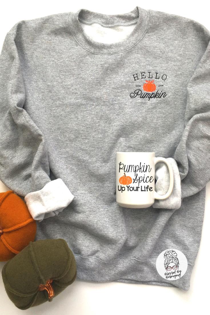 Pumpkin Spice Shirt Fall Graphic Tee Fall Sweater for Women Pumpkin Spice is My Season \u00a9 Crewneck Sweatshirt Fall Sweaters Women