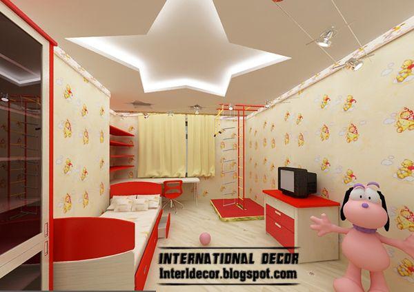 Best Creative Kids Room Ceilings Design Ideas, Cool False