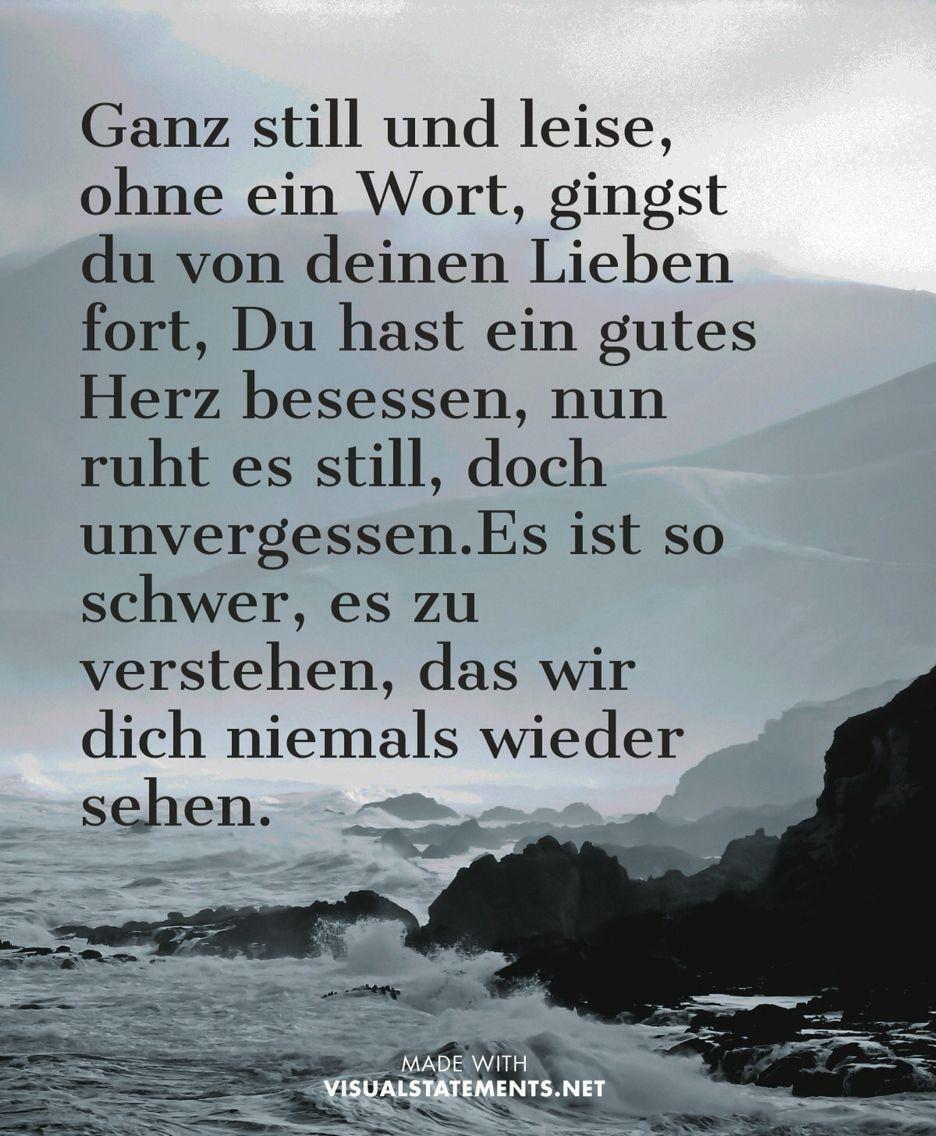 Pin von Julia Büchling auf Opa ️ | Sprüche trauer, Trauer