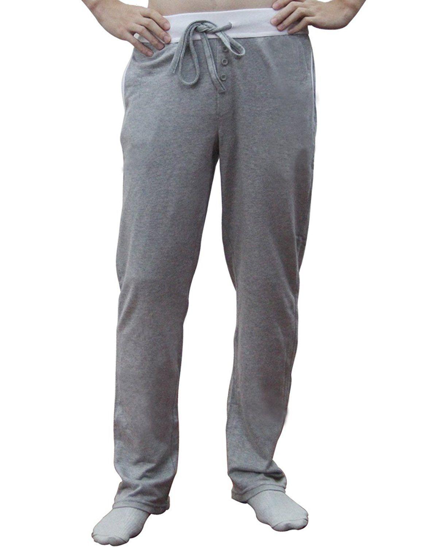 99641383a9b14 Godsen Mens Knit Pajama Pant with Elastic Waistband   Yoga world ...