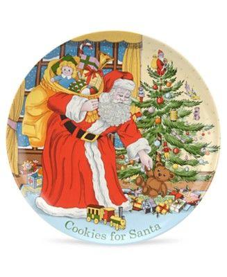 Spode Dinnerware, Christmas Tree Cookies for Santa Plate Things I