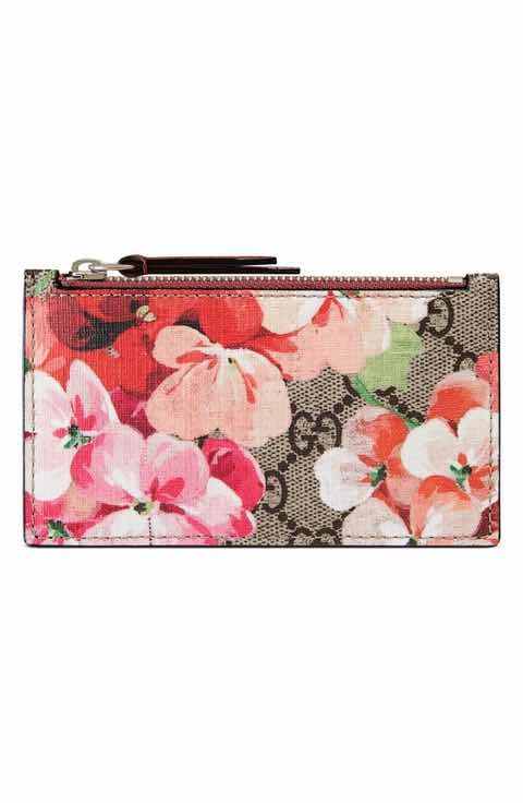 9956c156951bf7 Gucci GG Blooms Canvas & Leather Card Case | Bag It Up! | Leather ...