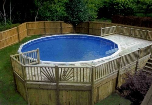 above ground pool with deck surround. Above Ground Pool With Partial Deck Surround - Looks So Much Better Than The Alone E