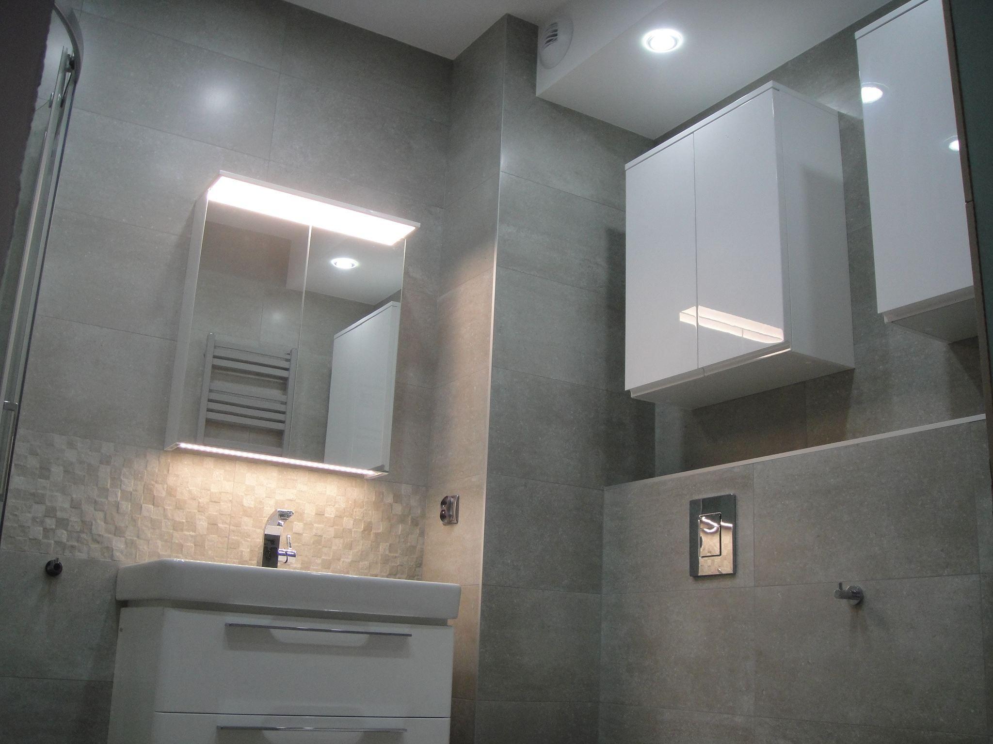 Wykończenie łazienki Styl Nowoczesny łazienka Szara W