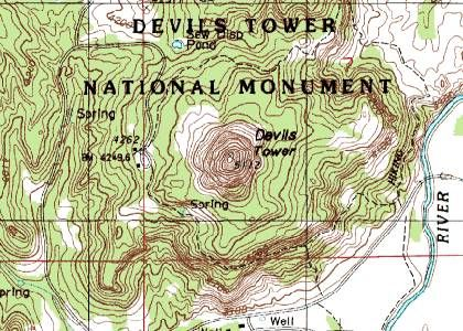 Devils Tower Topographic Map | europeancytokinesociety on