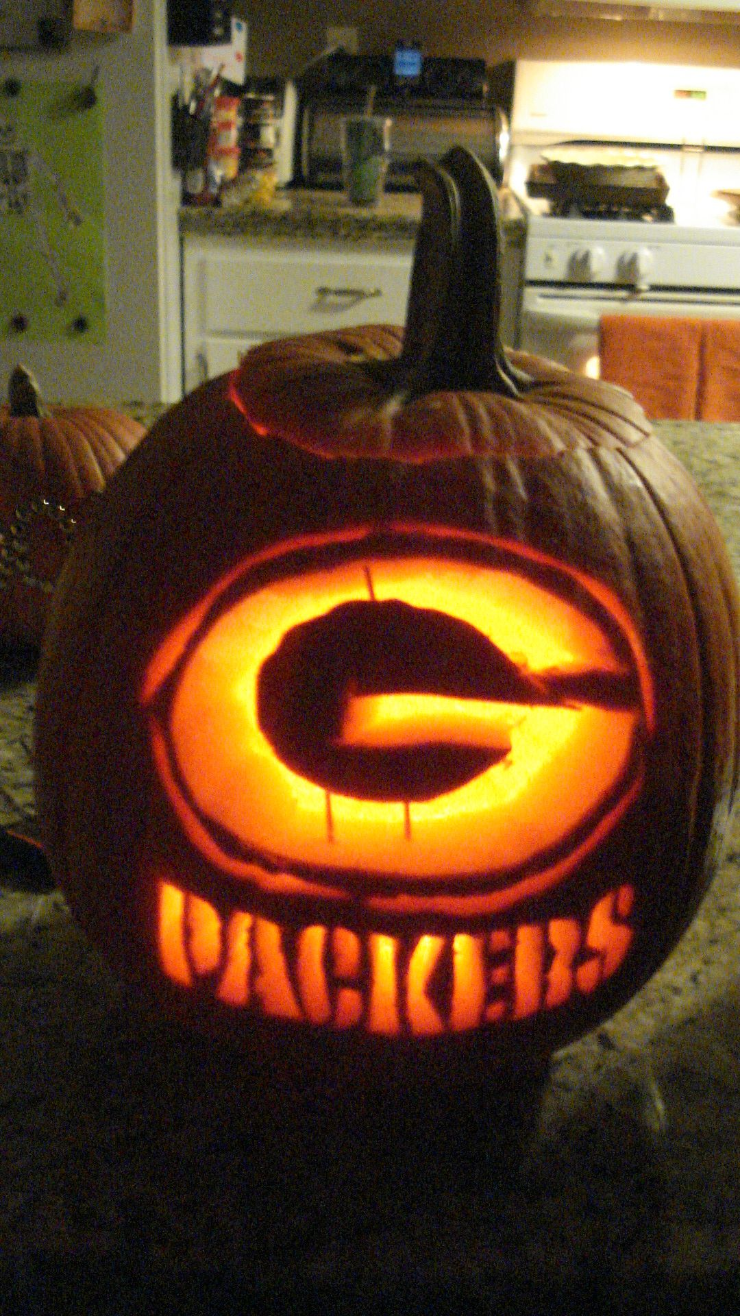 go pack, go! happy halloween green bay, wi! | carved pumpkins