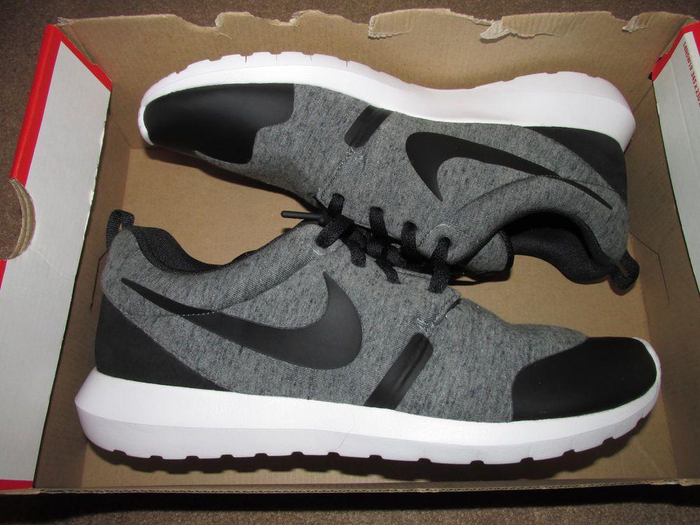 8008c2f6e18e Nike Roshe One Fleece NM TP Shoes Mens 11 Cool Grey Black White 749658 002   Nike  RunningCrossTraining