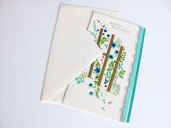 Vintage Birthday Card Clean Unused With Original Envelope A