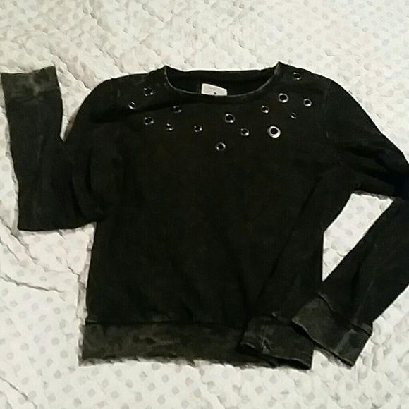 Forever 21 black sweatshirt size L Grommet sweatshirt.  Super cute. Size L Forever 21 Jackets & Coats