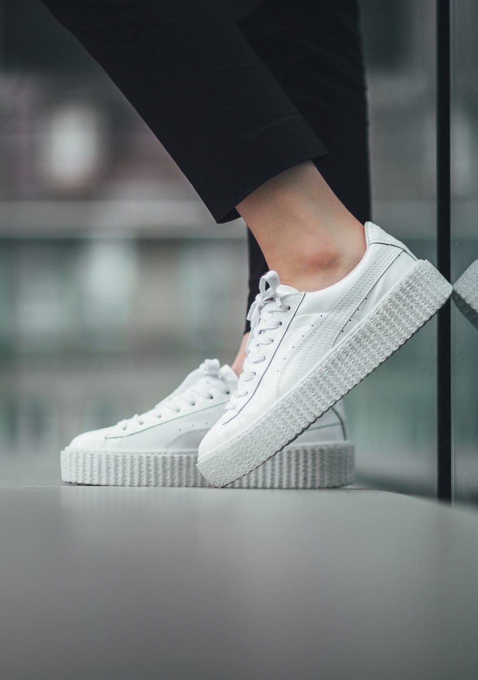 pretty nice 677f7 9a7f2 Puma x Rihanna Basket Creepers 'Triple White' (via Kicks ...