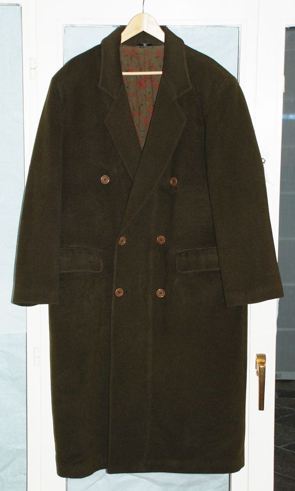 22be2f2a77 VALENTINO Uomo L men's overcoat Outerwear Coat double breasted dark green  wool #Valentino #OVERCOAT