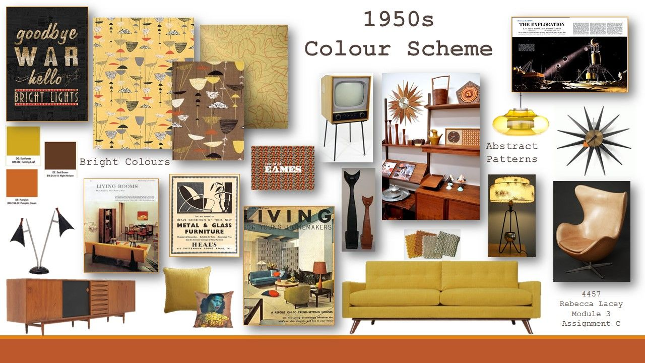 national design academy module 3 1950s colour scheme