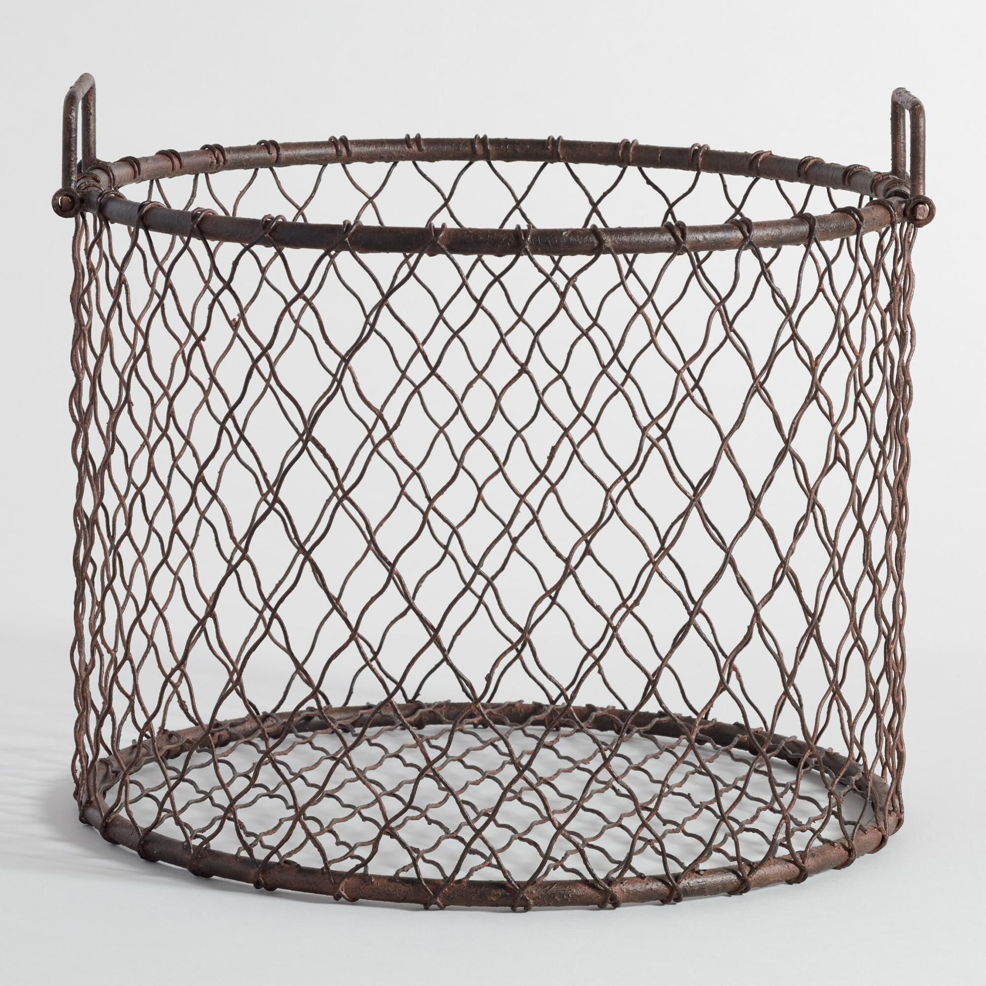 wire mason log basket log holder bronze finish and logs