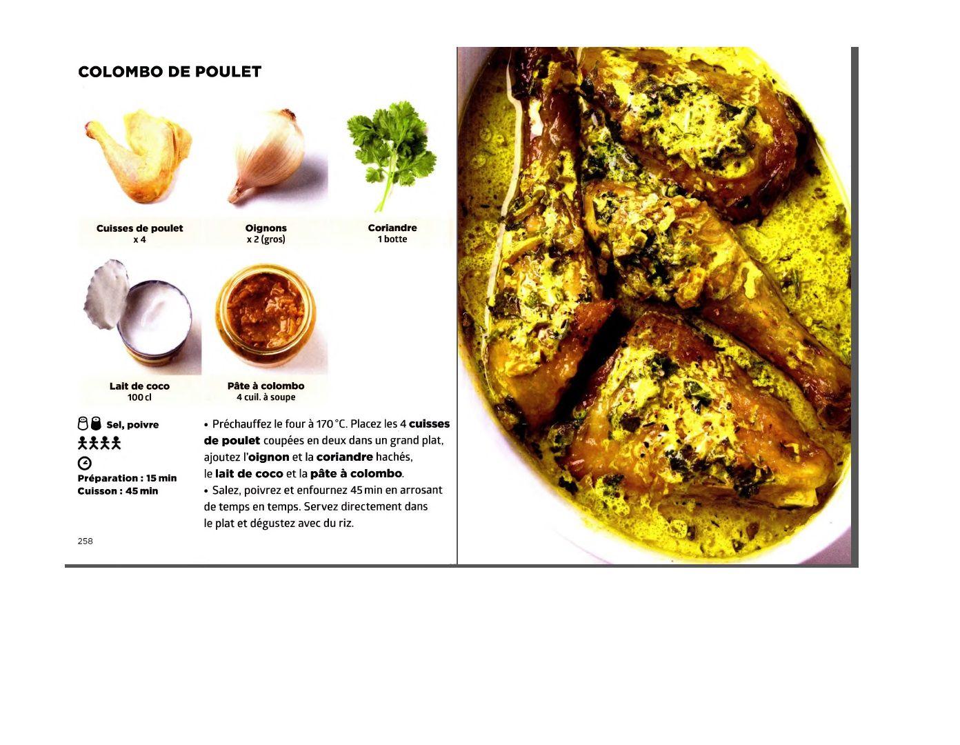 Simplissime Colombo De Poulet Recettes De Cuisine Cuisine Et Boissons Cuisine