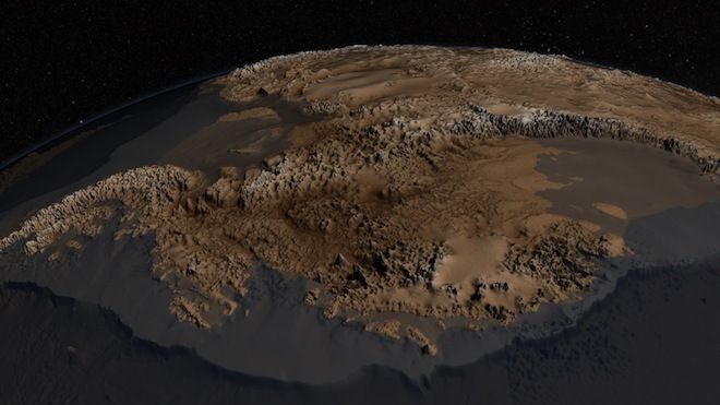 This is what an ice-free Antarctica looks like